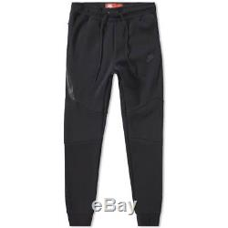 Men's Nike Tech Fleece Slim Fit Jogger Pants Black /black Msrp $100 New Small
