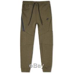 Men's Nike Tech Fleece Slim Fit Jogger Pants Olive / Black Msrp $100 New Medium