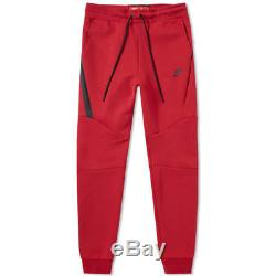 Men's Nike Tech Fleece Slim Fit Jogger Pants Red / Black Msrp $100 New XL