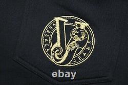 Men's Versace Jeans Gold Tiger Logo Black Joggers Track Pants Medium RRP £132