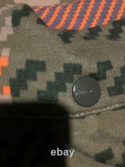 Mens Adidas Originals Sweatpants Sz S Green Orange Pattern Cargo Joggers RARE
