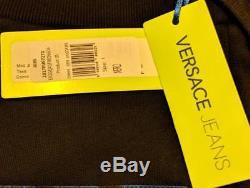 Mens Authentic Versace Jeans Patterned Jogger Pants Black/Blue Large $250