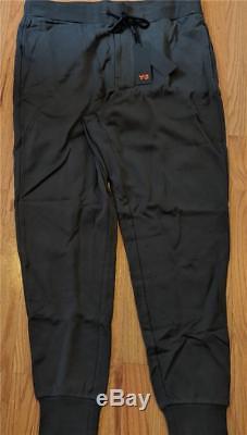 Mens Authentic Y-3 Cotton/Blend Rib-Knit Jogger Pants Black XL $200