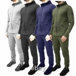Mens Designer Tracksuit Skinny Slim Fit Joggers Pants Bottoms Zip Hoodie 4 COLRS