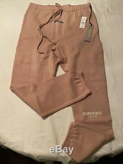 Mens Fear Of God FOG PACSUN ESSENTIALS Sweat Pants Joggers Blush Pink Size Large