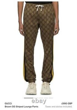 Mens Gucci Brown GG Lounge Bottoms Size M 10/10 Condition