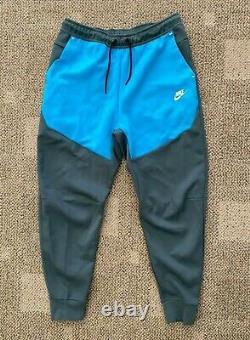 Mens L Nike Sportswear Tech Fleece Joggers Athletic Pants Gray/Blue CU4495-387