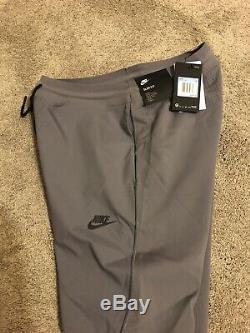 Mens MEDIUM Nike Sportswear Tech Knit Pants Joggers Tapered Cuffed Gunsmoke