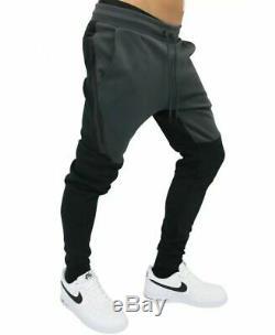 Mens Nike Tech Fleece Joggers Pants Size XL (805162 012) Black/ Grey