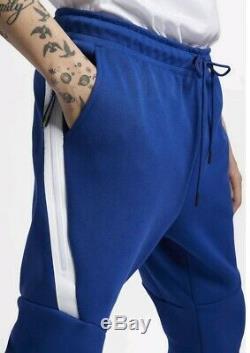 Mens Nike Tech Fleece Joggers Pants Size XL (805162 438) Blue / White