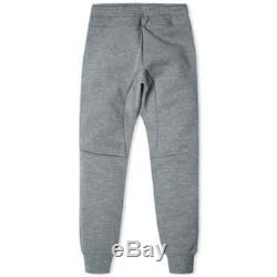 Mens Nike Tech Fleece Pants Joggers Carbon Heather & White Msrp $100 Small