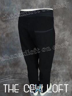Mens True Religion NYLON FLEECE Black JOGGER Sweat Pants M60B186EG $178.00