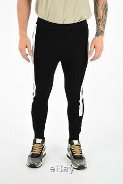 NEIL BARRETT New Man Black Knitted Slim Fit Low Rise Joggers Pants Trouser Sz M