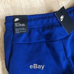 NEW Nike Sportswear Tech Fleece Joggers Royal Blue/White Pants Mens Size Small