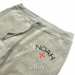 NEW Noah Men's Heather Gray Core Logo Cotton Jogger Sweatpants M FW16 AUTHENTIC