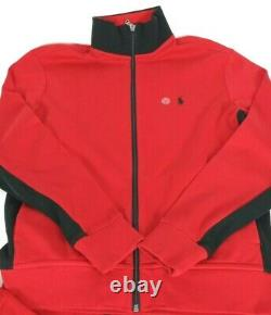 NEW Polo Ralph Lauren Track Jacket & Jogger Pant Set Red Black Men's, Large