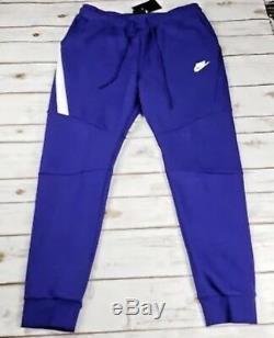 NIKE Men Tech Fleece Joggers Regency Purple White 805162 590 MSRP$100 Large