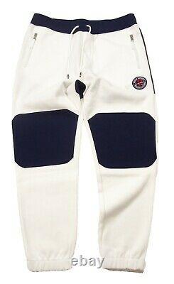 NWD Polo Sport Ralph Lauren Men's White Double Knit Jogger Pants