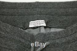 NWT$2395 Brunello Cucinelli Mens Cashmere Knit Drawstring Jogger Pants Sz M A191