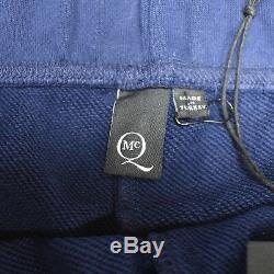 NWT $440 Alexander McQueen Men's Navy McQ Logo Print Jogger Pants S AUTHENTIC