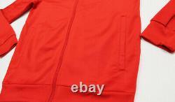 NWT ADIDAS Men's Black Red Scarlet Warm-Up Track Suit Set Jacket Pants Joggers