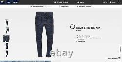 NWT G-Star Raw Men's Rovic Slim Trainer Joggers Pants Mazarine Blue 33x32 32x32