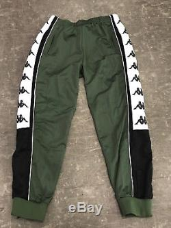 NWT Kappa 222 Banda 10 Alen Mens Track Pant Jogger Green- Black- White