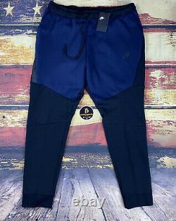 NWT Mens Nike NSW Tech Fleece Tapered Jogger Pants Navy & Black sweatpants XXL