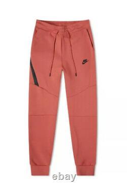 NWT Nike Sportswear Tech Fleece Jogger Pants 805162-603 Pueblo Red Mens L Slim