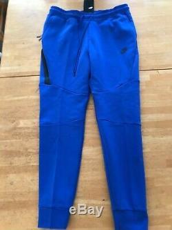 NWT Nike Tech Fleece Jogger Pants Sweats Joggers Blue 805162-480 Men's L Large