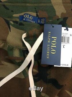 NWT-POLO RALPH LAUREN Men's Camo Sweatsuit Set Full-zip Hoodie Jogger Pants-Sz L
