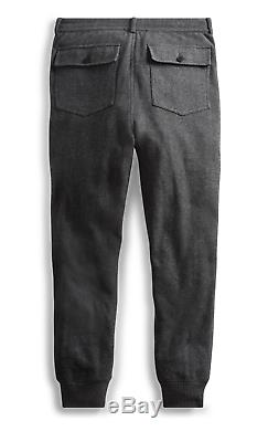 NWT RRL Ralph Lauren Gray Heather Herringbone Sweatpant Jogger Men's XL