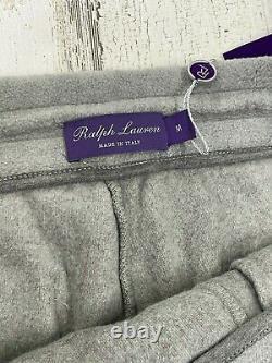 NWT Ralph Lauren Purple Label Jogger Pants Size M Gray Modal Cotton Cashmere