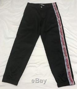 NWT & Receipt $1,090 Givenchy Mens Track Suit Joggers Pants Black Logo Tape Sz L