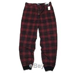 NWT Vintage Polo Ralph Lauren 36x32 Mens Plaid Jogger Pants Cotton Wool USA RL