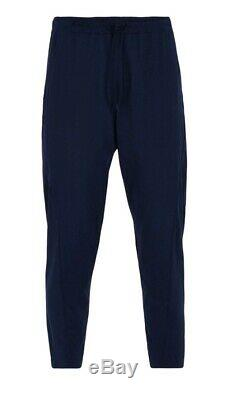 NWT Y-3 Yohji Yamamoto Adidas Drawstring Track Pants Joggers Navy Blue MENS MED