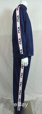 New Fila Men's Training Gym Jogger Tricot Track Suit Jacket Pants Blue SZ L XL