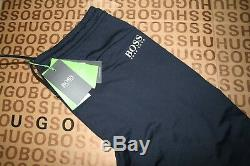 New Hugo Boss Athleisure Blue Tracksuit Lycra Stretch Tapered Joggers Large