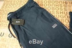 New Hugo Boss Mens Athleisure Blue Stretch Tracksuit Bottoms Pants Joggers XXL