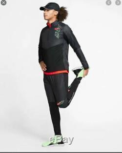 New Mens L Large Nike Phenom Elite Running Pants Joggers Black Green Red Bv5064