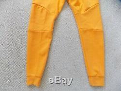 New Mens L Large Nike Tech Fleece Joggers Pants Kumquat Yellow White 805162 886