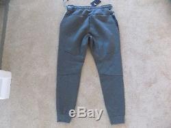 New Mens Large Nike Tech Fleece Joggers Slim Taper Pants Carbon Grey Blue 805162