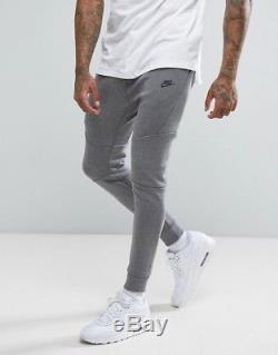 New Mens M XL 2xl Nike Tech Fleece Dark Grey Black Joggers Slim Pants 805162 091