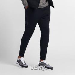New Mens S 2xl Nike Tech Fleece Tf Black Joggers Taper Slim Cuff Pants 805162