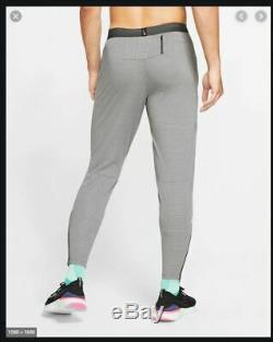 New Mens S Small Nike Phenom Knit Running Pants Joggers Dark Smoke Grey Aj6711