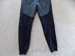 New Mens S Small Nike Tech Fleece Joggers Slim Taper Pants Black Grey 805162 012