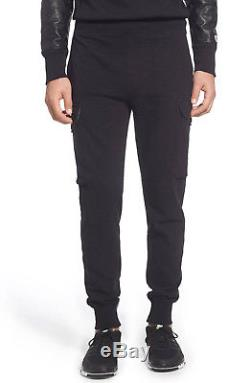 New Mens Todd Snyder Champion Cotton Jersey Cargo Black Jogger Sweat Pants L