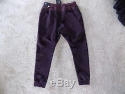 New Mens XL Nike Tech Fleece Joggers Pants Cuff Port Wine Burgundy Black 805162