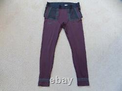 New Mens Xs Nike Gyakusou Helix Techknit Running Pants Tights Burgundy Bq3254