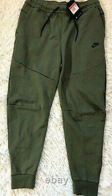 New Nike NSW Tech Fleece Joggers Twilight Marsh Black CU4495 380 Men's Sz L $110